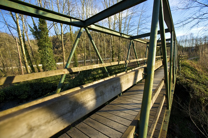 Bonmatí, pont de ferro sobre el Ter