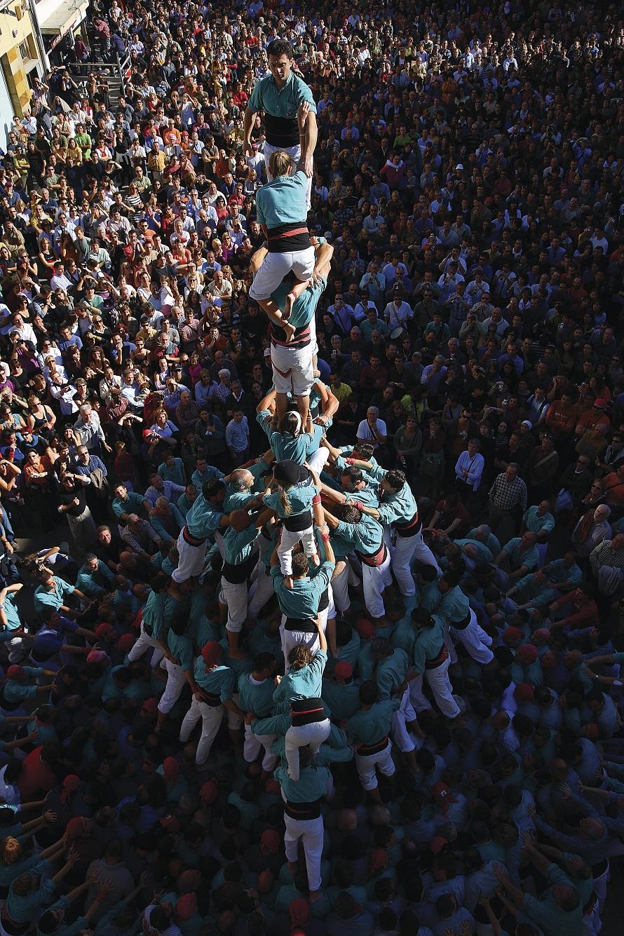 Castellers a la Festa Major © Lluís Carro