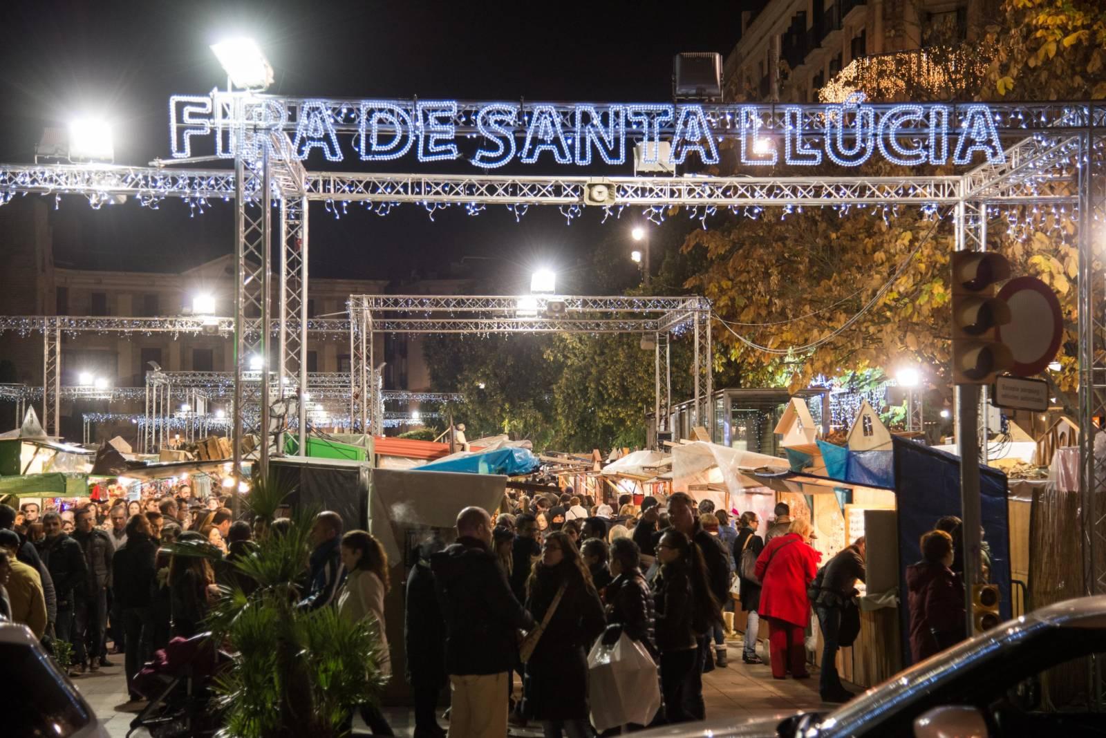 Fira de Santa Llucia - Barcelonas größter Weihnachtsmarkt © Fira de Santa Llucia